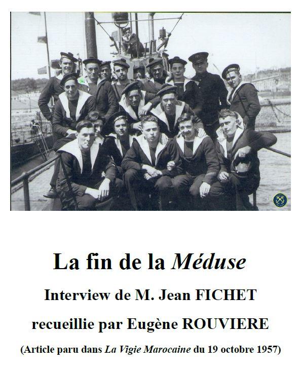 « La fin de la Méduse - Interview de M. Jean FICHET » par Eugène ROUVIERE