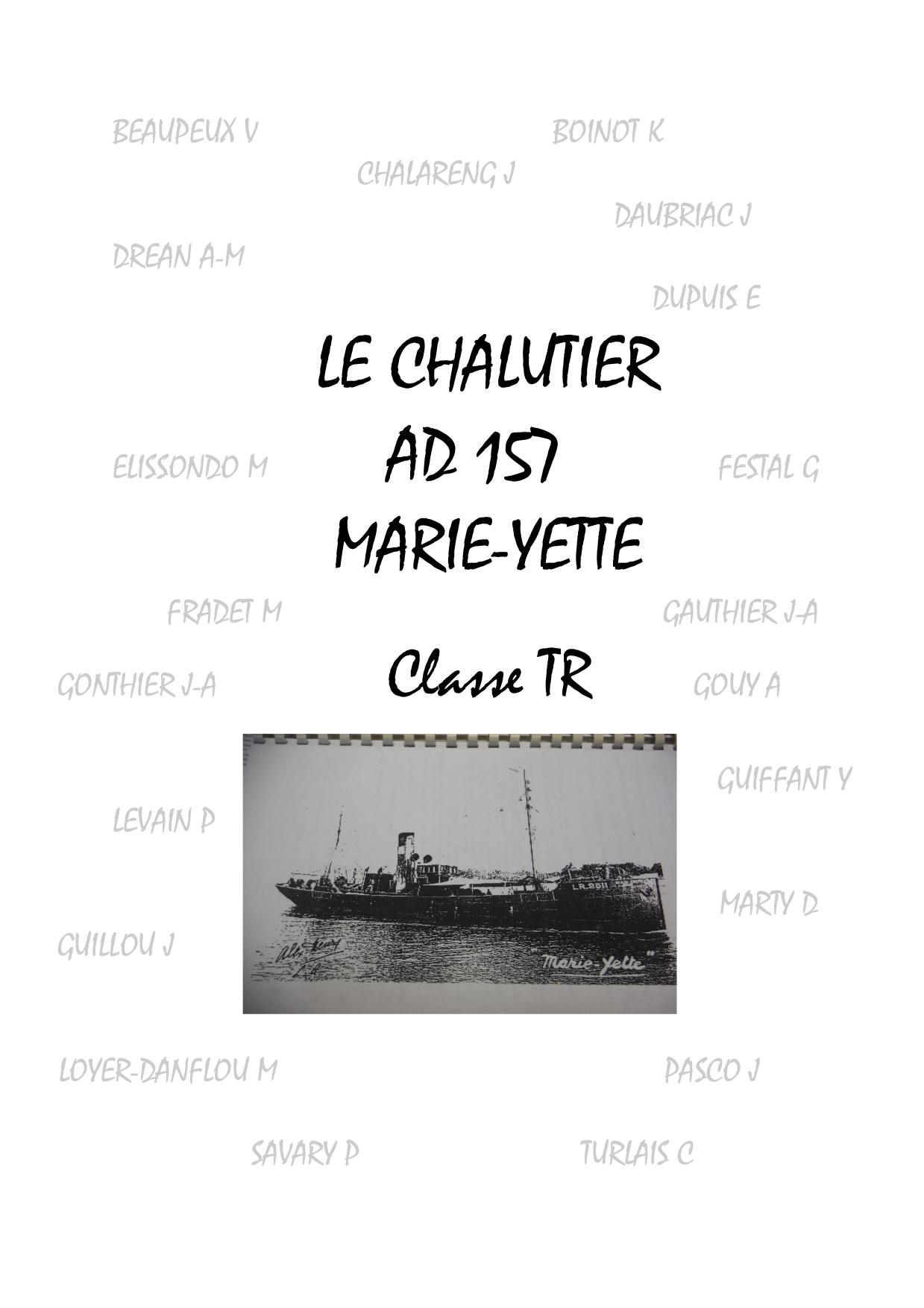 « MARIE-YETTE (AD 157) » par Didier VOLUZAN